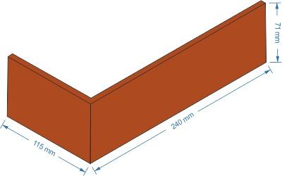 Rohový obklad Elastolith rozměry